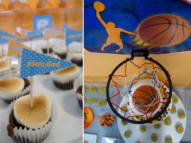 Slam Dunk Baby Shower, basketball cake