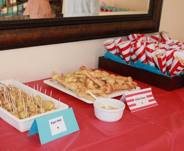 Thing 1 Thing 2 shower, Twin baby shower ideas, Dr Seuss inspired party, Dr Seuss theme party, Dr Seuss party food