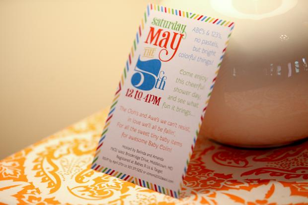 abc baby shower ideas, NYC baby shower ideas, invitation