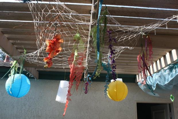 ahoy its a boy ahoy it's a boy baby shower ahoy its a boy decorations on the table under the sea theme table setting ceiling decor fishing net, lanterns