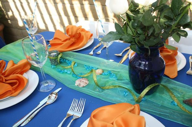 ahoy it's a boy baby shower ahoy its a boy decorations on the table under the sea theme table setting