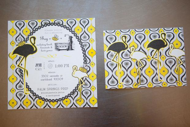 b is for baby shower invitation, bee themed invitation