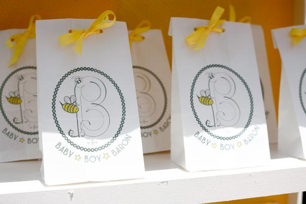 b is for baby shower invitation, bee themed, little bee, baby boy