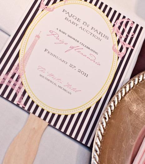 baby shower auction invitation