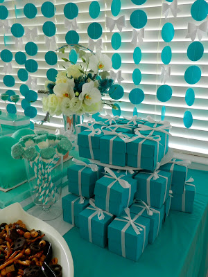 little baby blue baby shower favors tiffany inspired blue boxes and white ribbon
