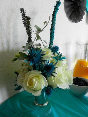 little baby blue baby shower pretty florals