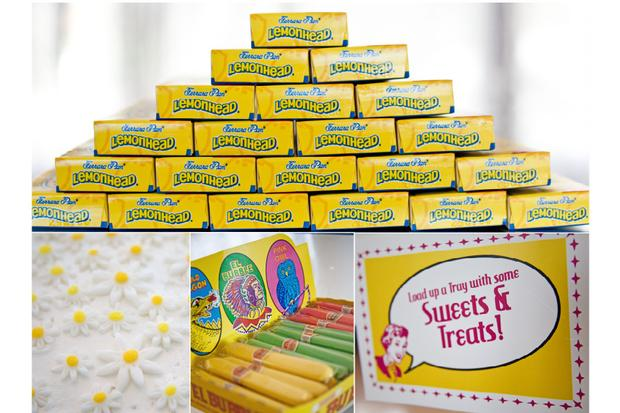 palm springs pop art party ideas, wedding, birthday party, baby shower inspirations, lemonhead box