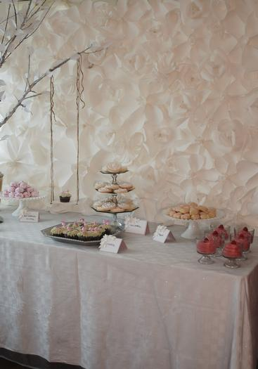 secret garden baby shower, baby girl pink mousse, cookies, russian tea cakes, secret garden party dessert table ideas, swing, decors