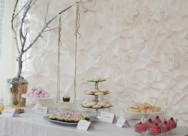secret garden baby shower, baby girl pink mousse, cookies, russian tea cakes, secret garden party dessert table ideas