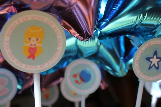 sip and sea baby shower party octopops white cap treats salt water taffy balloons