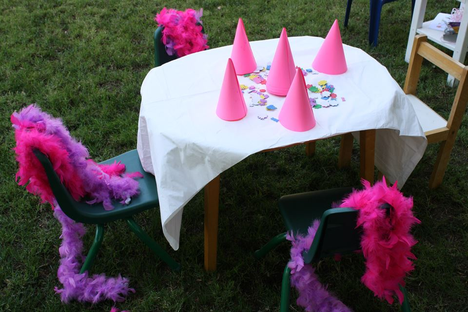 superheroes birthday party, calling all Princesss Superheros Birthday Party table, spider decor, princess birthday party ideas 2