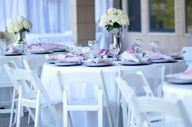 vintage baby shower for future princess, elegant and classy baby shower table setting, beautiful