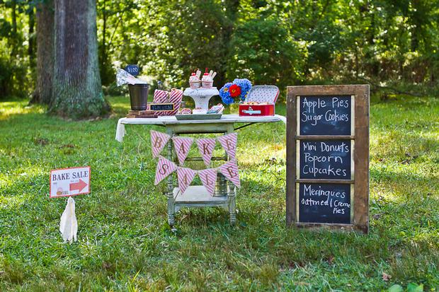 vintage bake sale styling shoot back to school style back to school theme party ideas