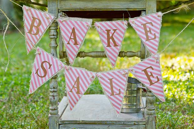 vintage bake sale styling shoot banner back to school theme party ideas