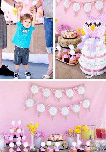 woodland baby shower ideas by marci via babyshowerideas4u setting the cake dessert table
