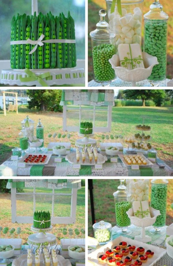 green-pea-pod-dessert-table-ideas