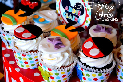 Mickey Mouse Clubhouse Party cupcake ideas