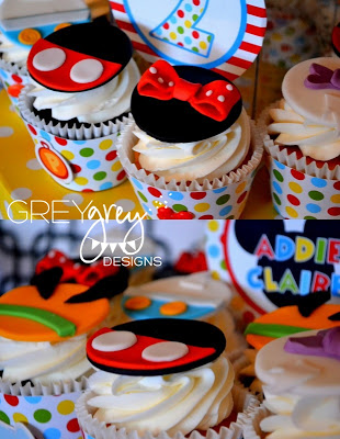 Mickey Mouse Clubhouse Party cupcakes