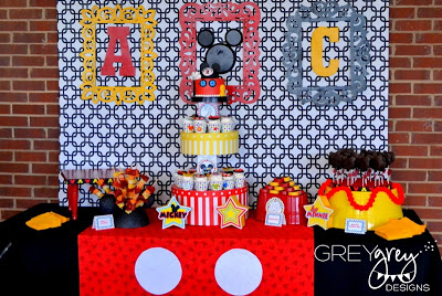 Mickey Mouse Clubhouse Baby Shower table