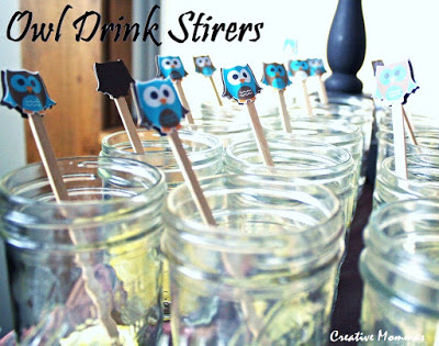 owl drink stirers