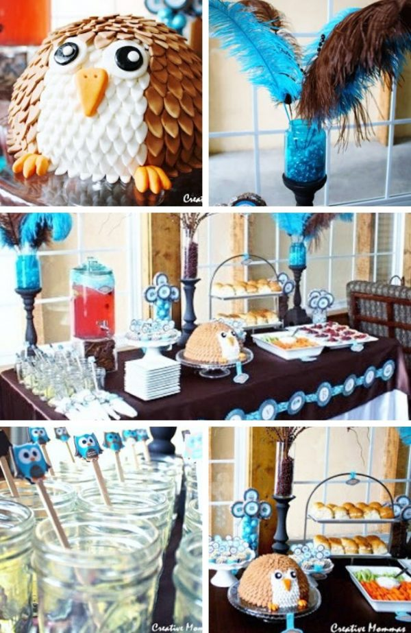Owl Themed Baby Shower Tablescape