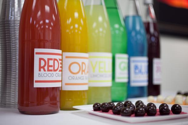 Rainbow Art Baby Shower, rainbow drinks