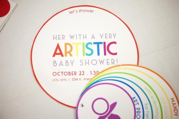 Rainbow Art Baby Shower