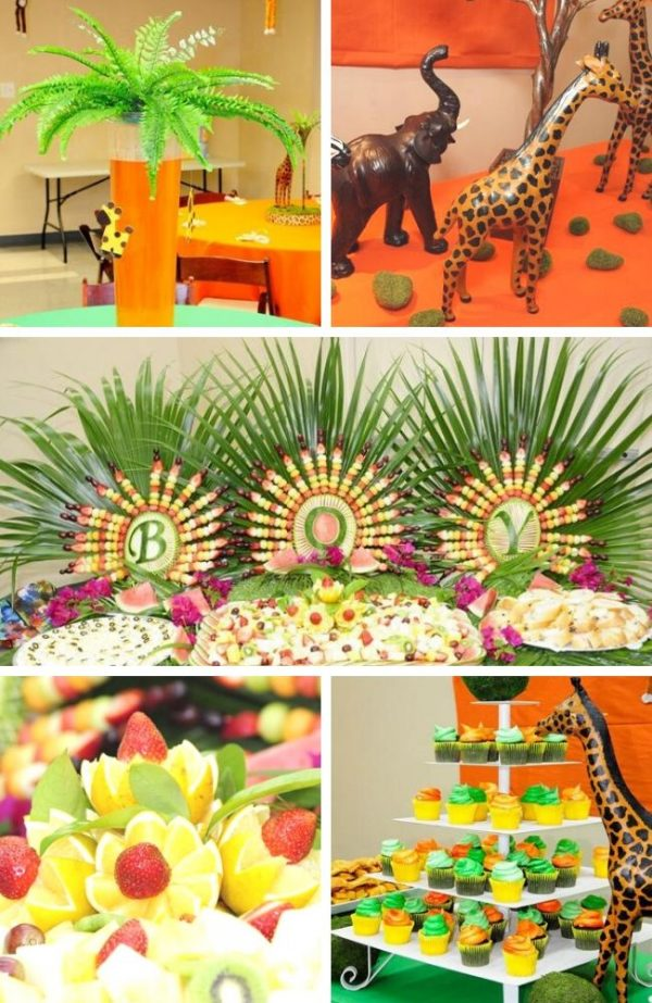 Safari Themed Baby Shower Tablescape