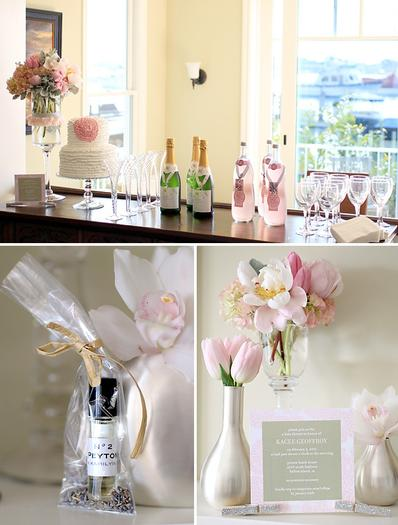 chanel party decors, chanel inspired baby shower ideas