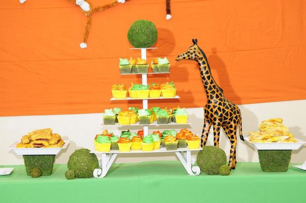 Giraffe Figurine overlooking Treats