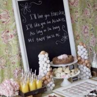 Farmhouse Baby shower food table