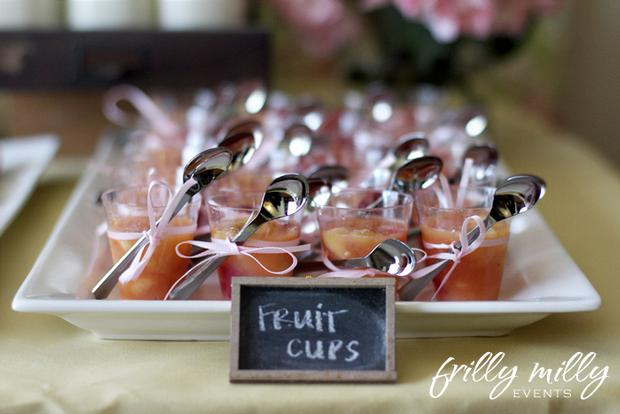 farmhouse party ideas, french toast treats, fruit cups