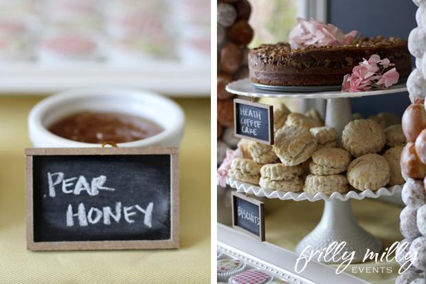 farmhouse party ideas, french toast treats, milk jar in vintage tray, treats
