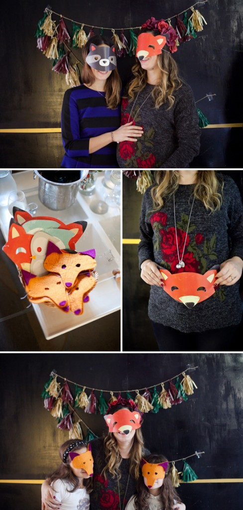 decorating fox masks
