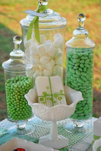 green pea pod baby shower ideas, treats