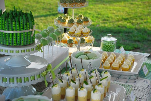 green pea pod baby shower ideas