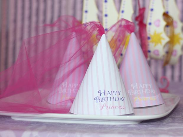 Tangled Princess Hats with Tulle