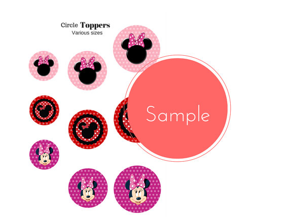 free minnie mouse party printable package