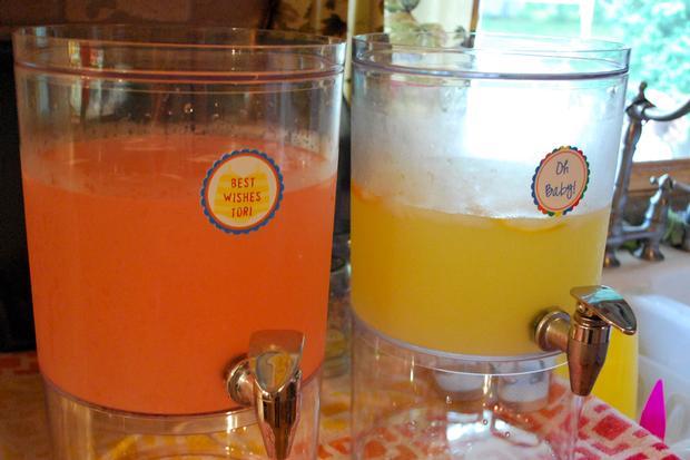 little sunshine baby shower decors, cupcake toppers, lemonades