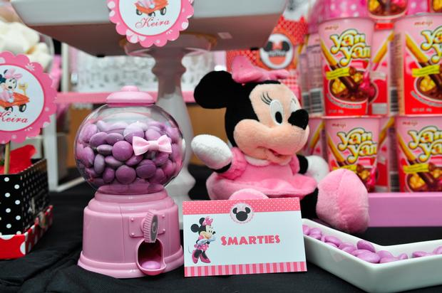 minnie mouse pink gumball machine