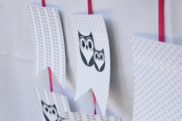 owl baby showe theme ideas dessert table banners