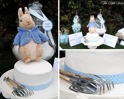Peter Rabbit Baby Shower Inspiration Cake
