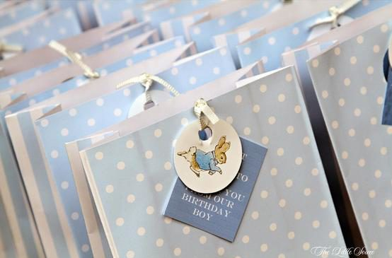 Peter Rabbit Baby Blue Polka Dot Bags