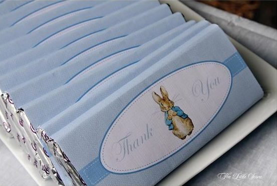 Peter Rabbit Baby Blue Chocolate Bar Wrappers