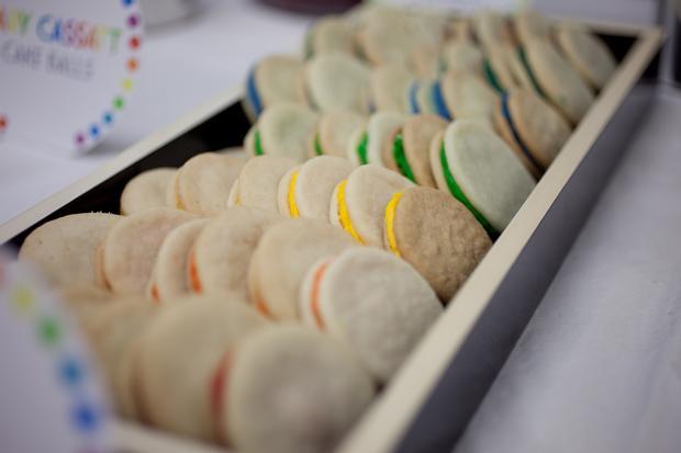 rainbow cookies, Rainbow Art Baby Shower decorations,