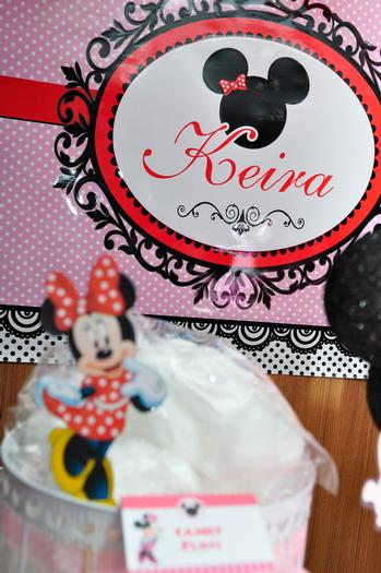 red minnie mouse theme party