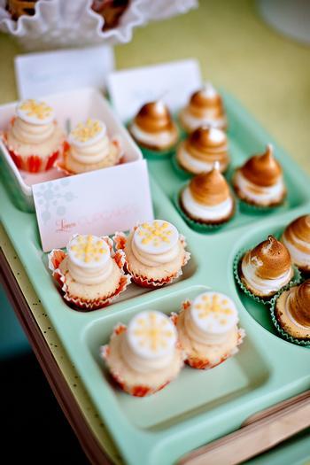 retro baby shower desserts