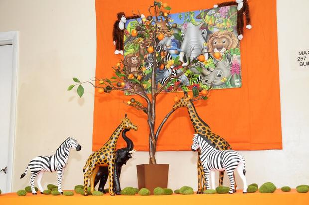 Safari Animals Gathered on  Wishing Tree