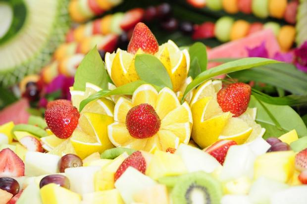 Decorative Floral Fruit Platter