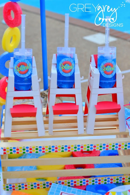 summer pool party decorations, outdoor party